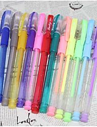 Недорогие -цвет флуоресцентный пера 12 цвета (12шт)
