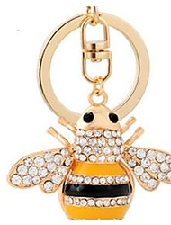 Bee Car Keychain Ladies Bag Ornaments Pendant Gift