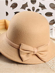 cheap -Women's Party Fedora Hat - Solid Colored Bow