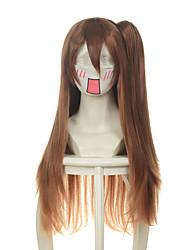 cheap -chuunibyou demo koi ga shitai nibutani shinka dark brown jaws clamp halloween wigs synthetic wigs costume wigs Halloween