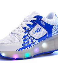 cheap -Girls' Shoes Tulle Spring / Summer / Fall Comfort / Light Up Shoes Athletic Shoes Wedge Heel Round Toe LED Black / Blue / Pink