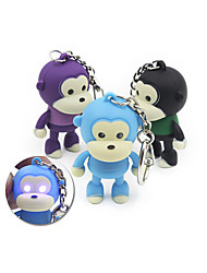 Monkey Keyring Pendant Decoration ABS Key Chain With Light / Sound Movie Product - COLORMIX