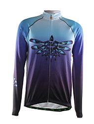 Sports Cycling Jacket Men's Long Sleeve Breathable / Thermal /Back Pocket / Ultra Light Fabric Bike Jersey