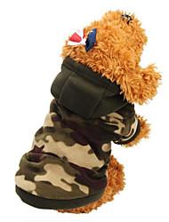 Недорогие -Кошка Собака Плащи Толстовки Одежда для собак камуфляж Камуфляж цвета Цвет-леопард Хлопок Костюм Для домашних животных Муж. Жен.