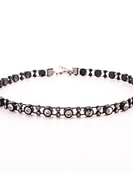 Women's Choker Necklaces Crystal Crystal Imitation Diamond Basic Circular Unique Design Double-layer Sexy Punk Personalized Hip-Hop Rock