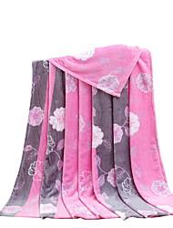bedtoppings ricoprono panno morbido della flanella corallo matrimoniali 200x230cm rosa stampe banda fiore 210 gsm