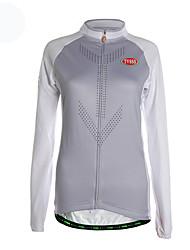 TVSSS Camisa para Ciclismo Mulheres Manga Longa Moto Camisa/Roupas Para Esporte Blusas Térmico/Quente Zíper Frontal Respirável Tecido