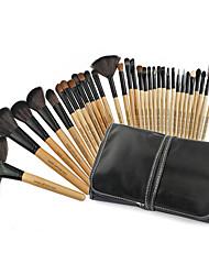 billiga -32pcs Makeupborstar Professionell Makeupborstset Gethårborste Bärbar / Professionell Trä
