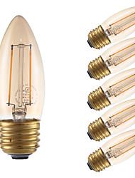 cheap -2W E26 LED Filament Bulbs B10 2 COB 160 lm Amber Dimmable 120V 6 pcs