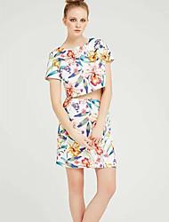 abordables -Mujer Línea A Faldas - Jacquard, Floral