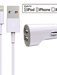 cheap -Car Charger USB Charger Universal Charger Kit 2 USB Ports 2.4 A DC 12V-24V
