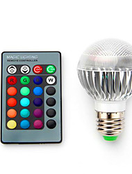 cheap -3.5 E14 B22 E26/E27 LED Smart Bulbs G60 1 Integrate LED 280 lm RGB / K Dimmable Remote-Controlled Decorative AC 85-265 V