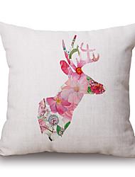 Polyester Decorative Cushion Pillow Cover Animal Deer Sofa Home Decor 45x45cm