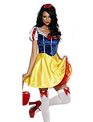 Da principessa Fiabe Costumi Cosplay Vestito da Serata Elegante Donna Halloween Feste/vacanze Costumi Halloween Giallo + blu Con stampe