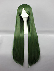cheap -Synthetic Wig Straight Green Women's Capless Carnival Wig Halloween Wig Cosplay Wig Synthetic Hair