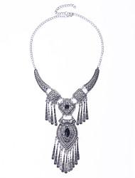abordables -Mujer Moda Euramerican Collares con colgantes Collar Turquesa Obsidiana Legierung Collares con colgantes Collar , Fiesta Diario Casual