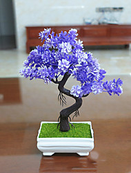 Set of 1 PCS 1 Branch Artificial Mini Bonsai Pine Tree Plant Home Decoration Long 9.4(inch)