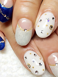 50 Nagel-Kunst-Dekoration Strassperlen Make-up kosmetische Nail Art Design
