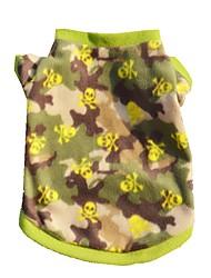 billige -Kat Hund T-shirt Hundetøj camouflage Kamuflage Farve Polarfleece Kostume For kæledyr Sommer Herre Dame Afslappet / Hverdag Mode