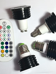 E14 GU10 B22 E26/E27 LED Spotlight MR16 1pcs High Power LED 400 lm RGB K Dimmable Sound-Activated Remote-Controlled Decorative V