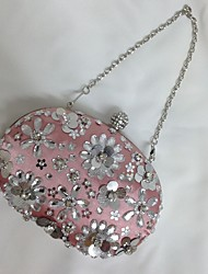 cheap -Women Bags Satin Evening Bag Beading Sequin Crystal/ Rhinestone Acrylic Jewels Flower for Wedding Event/Party Formal All Seasons Screen