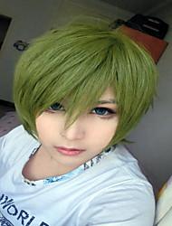 Недорогие -Искусственные волосы парики Прямой силуэт Парики для косплей Зеленый