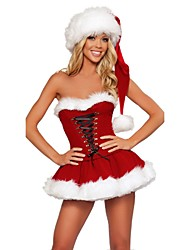 cheap -Classical Women Strapless Sexy Christmas Costumes Adult Women Santa Claus Costumes For Holiday Party Dress