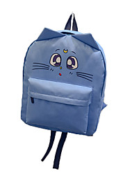 Women Bags All Seasons Nylon Backpack for Casual Outdoor Purple Fuchsia Blue Blushing Pink Light gray