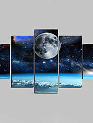 Landscape Modern,Five Panels Canvas Any Shape Print Wall Decor For Home Decoration