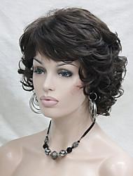 Donna Parrucche sintetiche Senza tappo Riccio Castano Parrucca naturale Parrucca di Halloween Parrucca di carnevale costumi parrucche
