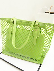 Women Bags All Seasons PVC Shoulder Bag for Casual Yellow Blue Light Green Lilac