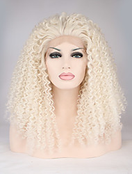 Sylvia Synthetic Lace front Wig Blonde Hair Heat Resistant Long Loose Wave Synthetic Wigs