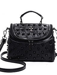 cheap -Women Bags Sheepskin Shoulder Bag Rivet for Casual Outdoor All Seasons Black