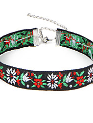 cheap -New Arrival Women's Fashion Luxury European Vintage Embroidery Choker Necklace for Women