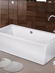 cheap -Contemporary Art Deco/Retro Modern Tub And Shower Waterfall Widespread Floor Standing Ceramic Valve One Hole Two Handles One Hole Chrome,