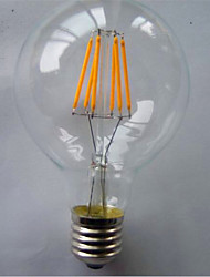 cheap -1pc 500-550 lm E26/E27 LED Filament Bulbs G80 6 leds COB Decorative Warm White Yellow AC 220-240V