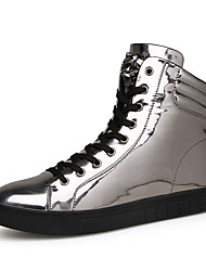 cheap -Men's Fashion Boots PU(Polyurethane) Winter Mary Jane Sneakers Slip Resistant Black / Silver