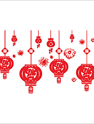 cheap -Wall Stickers Wall Decals Style Fireworks Lantern PVC Wall Stickers