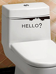 cheap -Still Life Fashion Words & Quotes Wall Stickers Plane Wall Stickers Toilet Stickers, PVC Home Decoration Wall Decal Toilet Glass/Bathroom