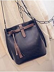 cheap -Women Bags PU leatherette Crossbody Bag for Casual Fall Black Gray Brown Red