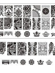 cheap -Lace Printing Nail Art Stamping Decor DIY Manicure Stamping Plates for Nails Templates Salon Tools BC03