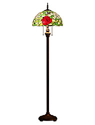 cheap -Tiffany Floor Lamp with 2 Lights