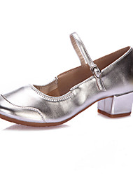 cheap -Women's Latin Shoes / Tap Shoes / Modern Shoes Paillette Heel Beading Low Heel Non Customizable Dance Shoes Silver / Golden / Indoor