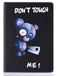 With Stand Flip  Bear Pattern Case Full Body Case Hard PU Leather for iPad Mini 4 iPad Mini 3 2 1