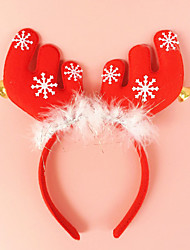 cheap -2PCS Antlers With Bell Ears Headband Head Buckle Holiday Dress Makeup Christmas Decorations Props