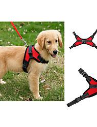 preiswerte -Hund Geschirre Regolabile / Einziehbar Weste Solide Maschen Schwarz Purpur Rot Blau