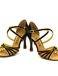 Women's Satin Arch Strap Latin / Ballroom Dance Performance Shoes Customizable
