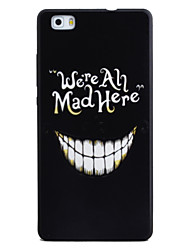 For HUAWEI P8 Lite Y5II Case Cover Tooth Pattern Black TPU Material Phone Shell