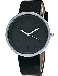 baratos -Mulheres Relógio de Moda Relógio de Pulso Relógio Casual Quartzo / PU Banda Casual Legal Preta Branco Marrom Verde