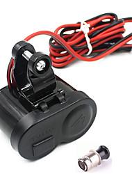 moto impermeabile GPS 1.5a USB caricatore di potere del porto presa accendisigari